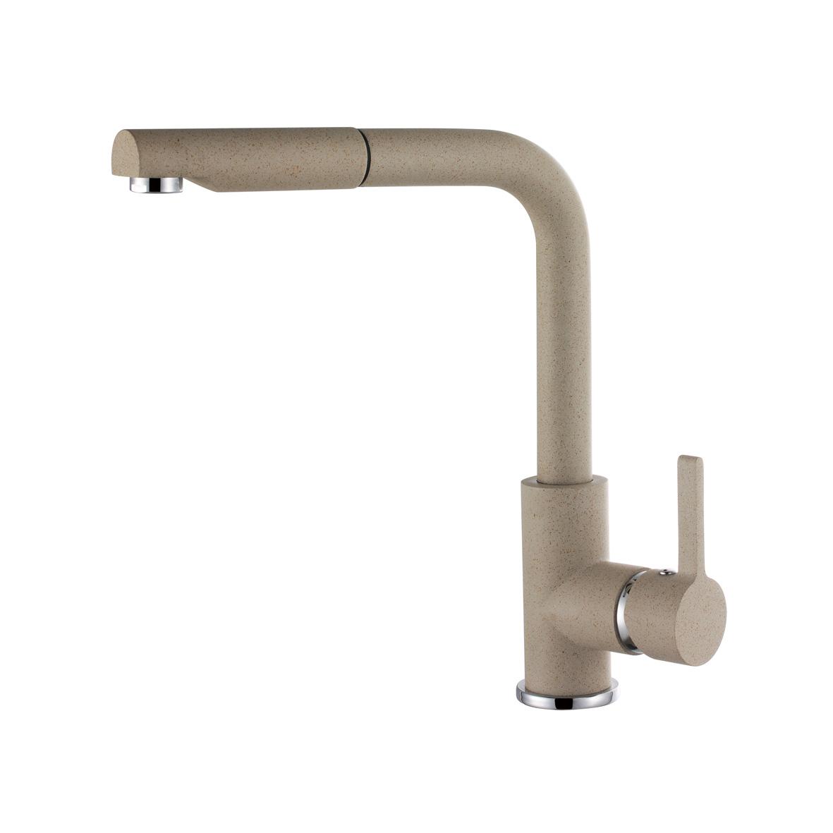 Elleci C02 Avena egykaros csaptelep forgatható kifolyócsővel, kihúzható zuhanyfejjel