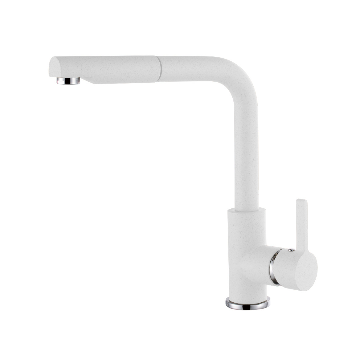 Elleci C02 Bianco Titano egykaros csaptelep forgatható kifolyócsővel, kihúzható zuhanyfejjel