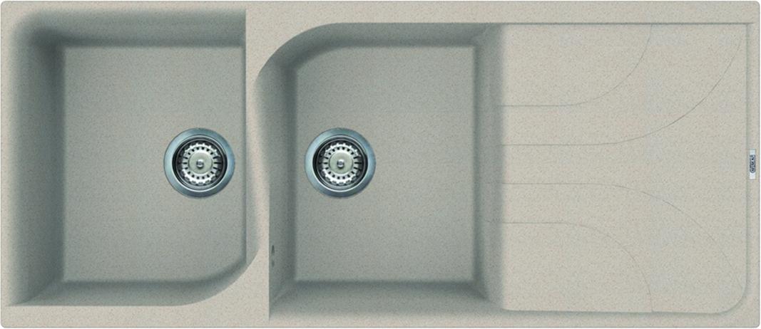 Elleci Ego 500 Kompozit Avena kétmedencés mosogató csepptálcával