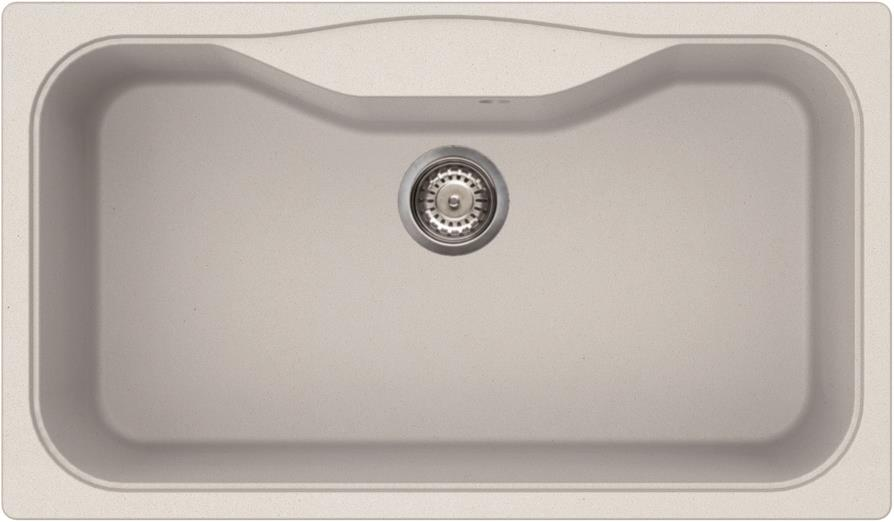 Elleci Fox 360 Kompozit Bianco Titano egymedencés mosogató