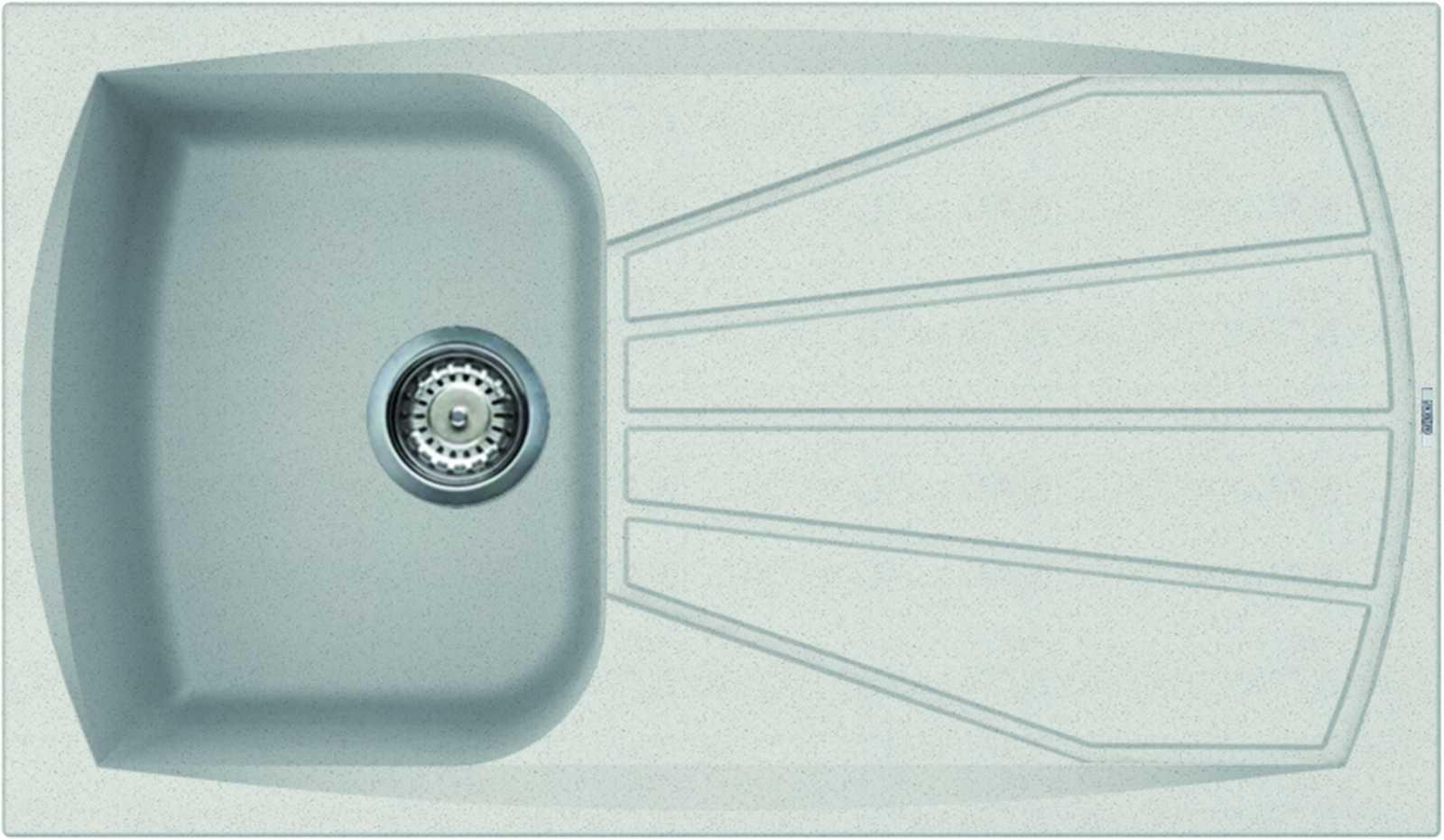 Elleci Living 400 Kompozit Bianco egymedencés mosogató csepptálcával