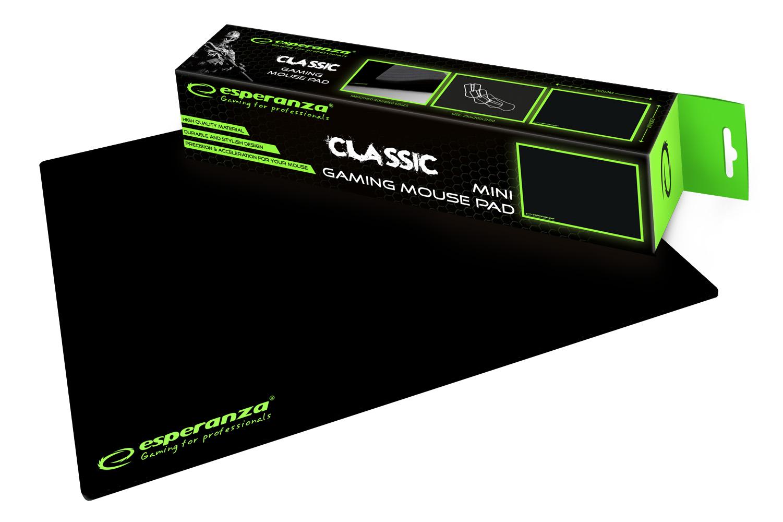 Esperanza Classic Gamer mini egérpad, fekete EGP101K