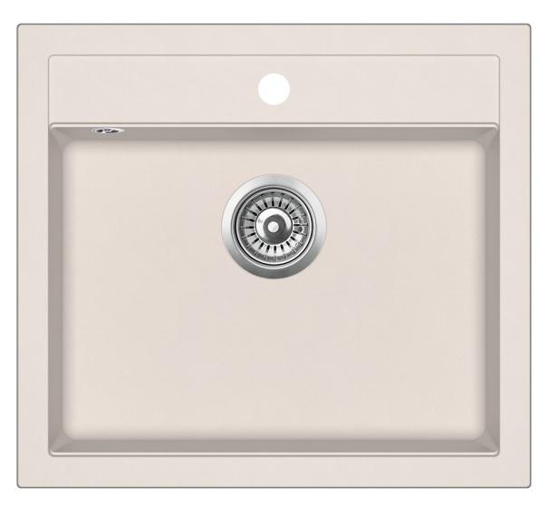 Evido 105540 Quadro 6 gránit mosogatótálca, bézs