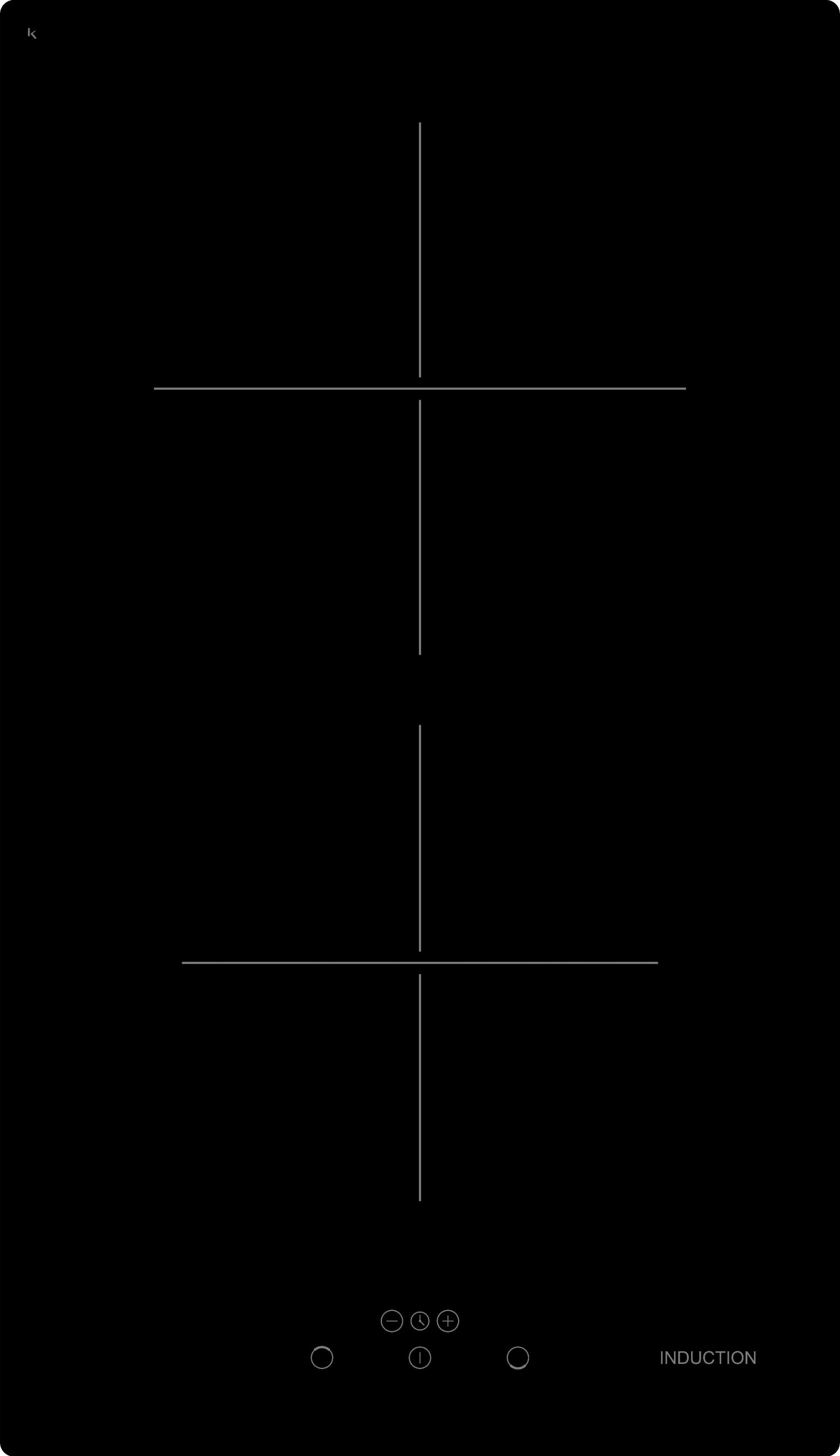 Evido HID32B.2 Domino-I 32B.2 beépíthető indukciós főzőlap