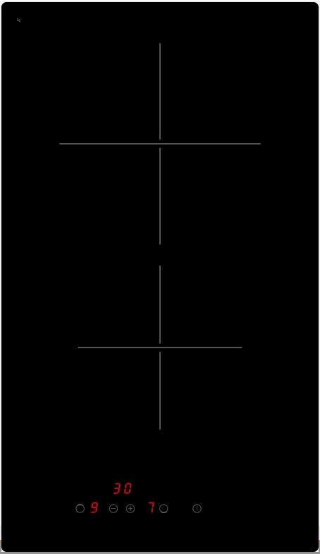 Evido HVD32B.2 Domino-V 32B.2 beépíthető üvegkerámia főzőlap