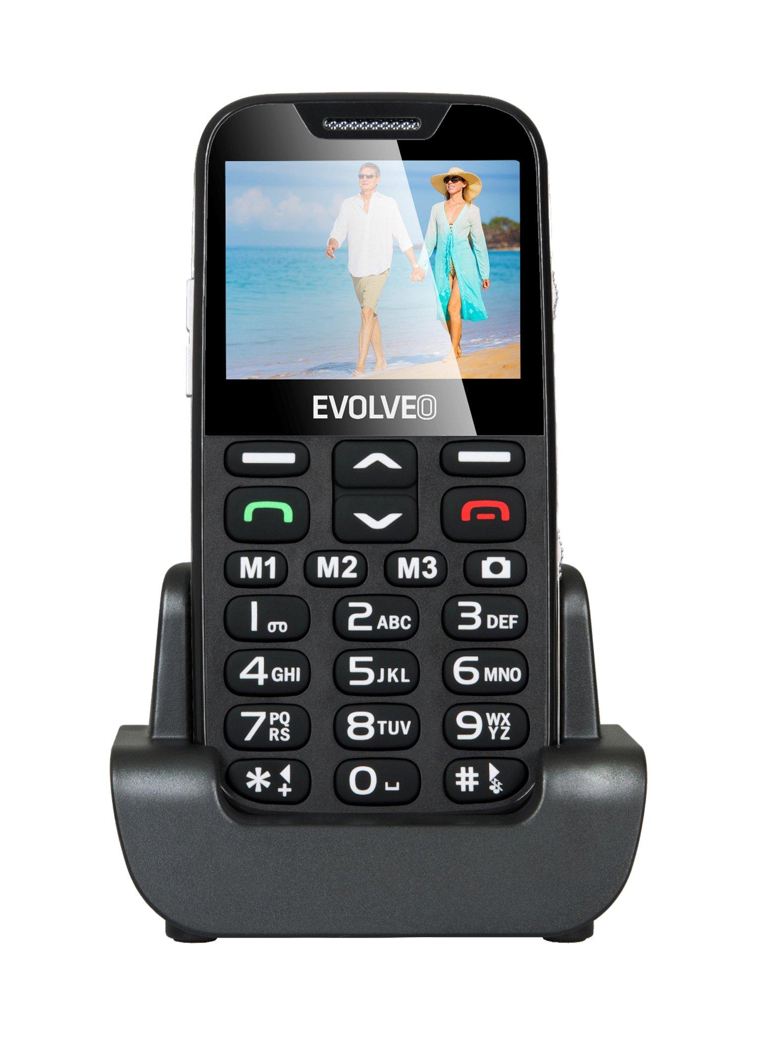 EVOLVEO EASYPHONE XD EP-600 Mobiltelefon, fekete