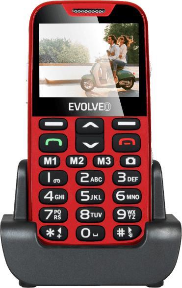 EVOLVEO EASYPHONE XD EP-600 Mobiltelefon, piros