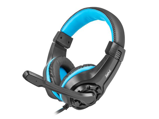Fury NFU-0862 Wildcat mikrofonos gamer fejhallgató, fekete-kék
