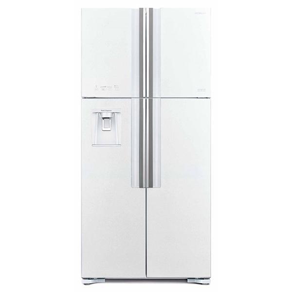 HITACHI W660PRU7.GPW hűtő, 4 ajtós, fehér üveg