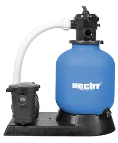 Hecht 302016 homokszűrős vízforgató előszűrővel