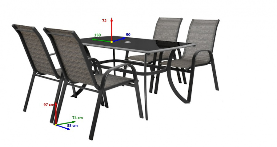 Hecht HONEYSET4 kerti bútor