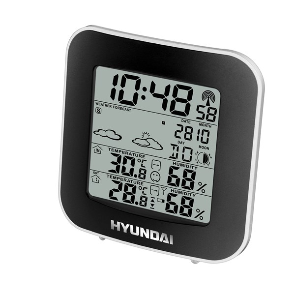 Hyundai WS8236 Időjárás állomás, fekete/ezüst
