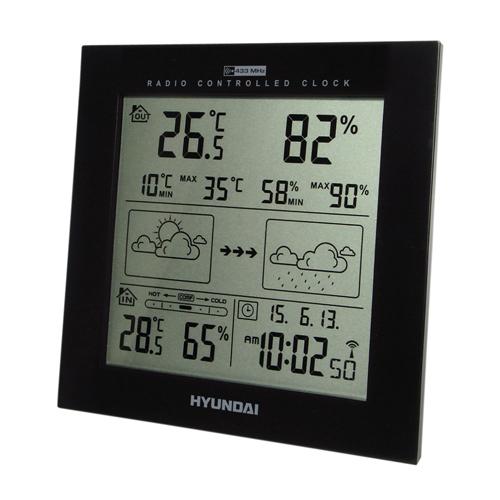 Hyundai WS2244B FEKETE időjárás állomás