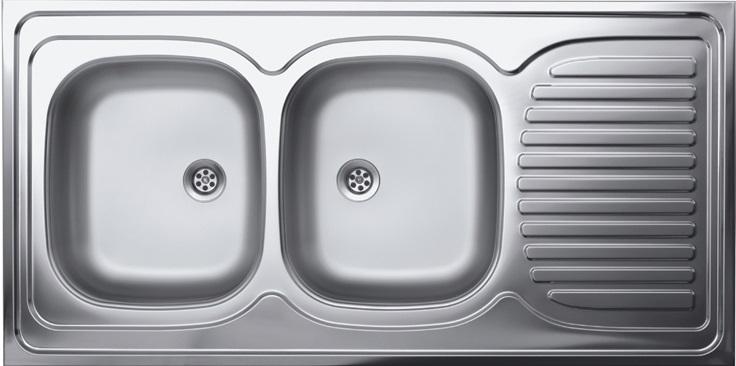 Livinox N134BK teletetős kétmedence,csepptálcás mosogató