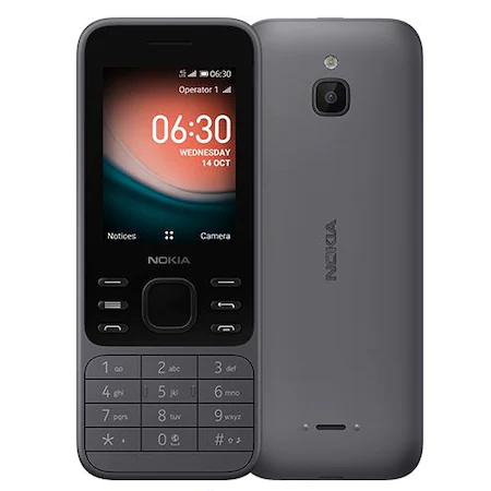 Nokia 6300 4G DS, CHARCOAL mobiltelefon