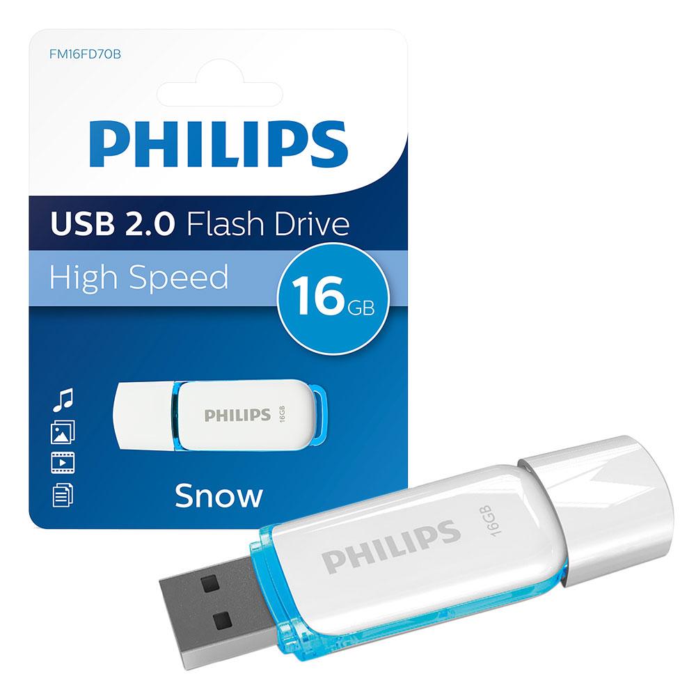 Philips PH667933 Pendrive USB 2.0 16GB Snow Edition fehér-kék