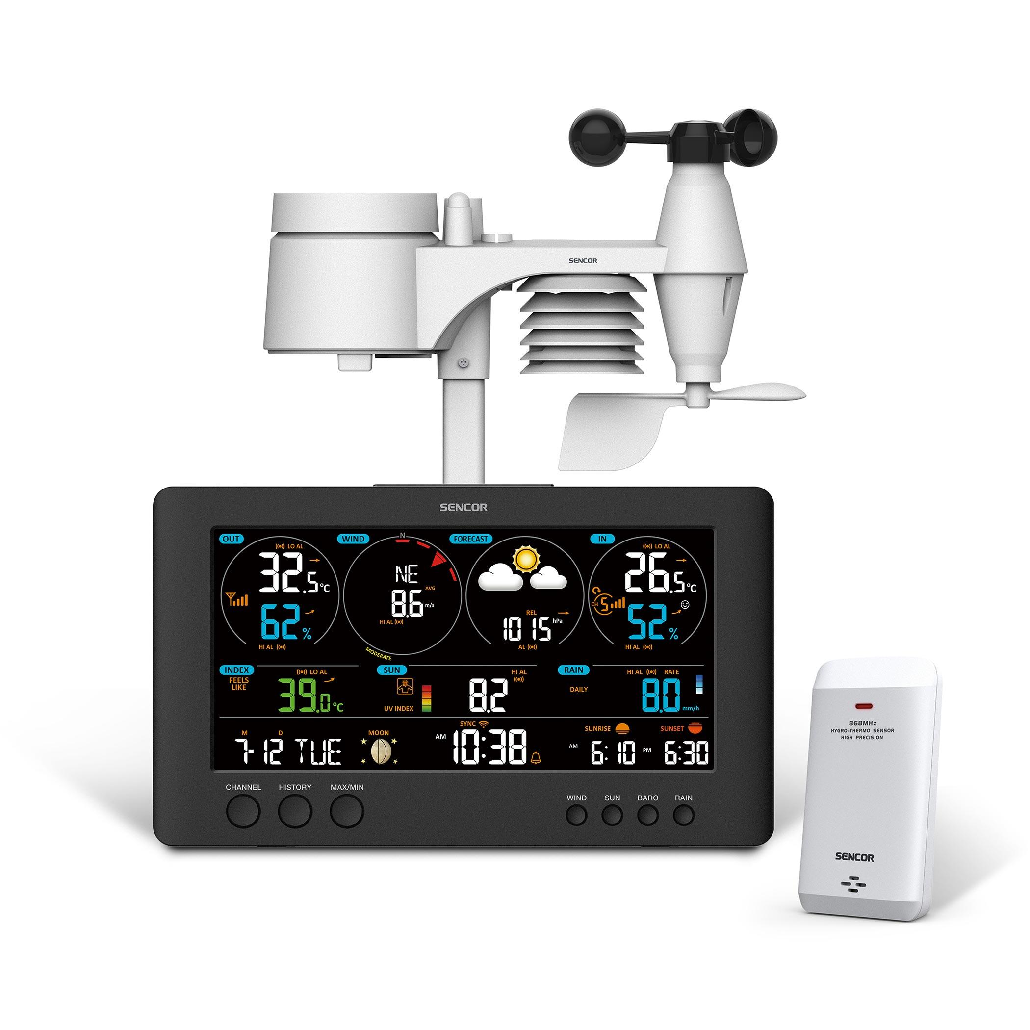 Sencor SWS12500WIFI professzionális meteorológiai állomás