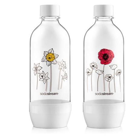 Sodastream Bo Duo Jet 2 x 1 L, virágos palack