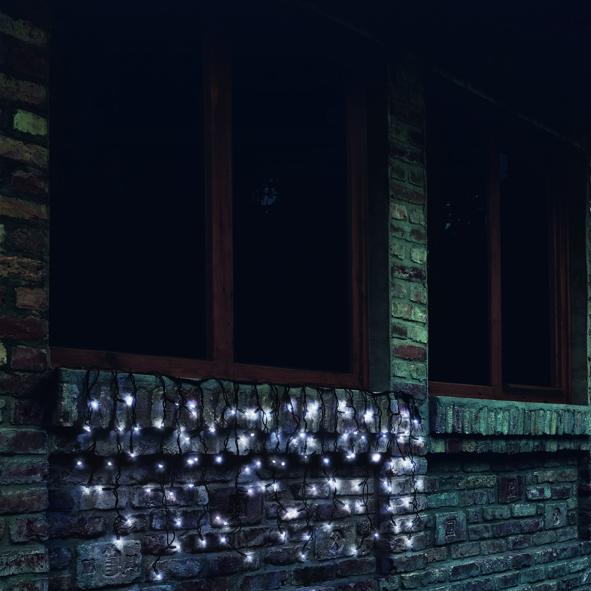 Home by Somogyi KTF 200C/WH sorolható fényfüggöny, 200 LED, fehér, kültéri