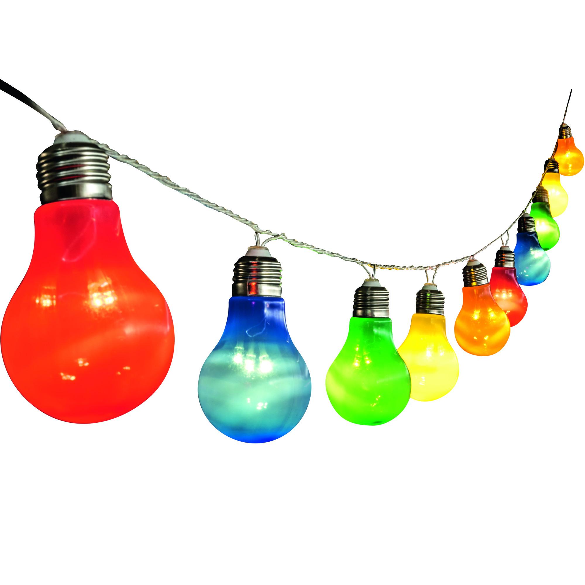 Somogyi LP 10/M LED-es izzósor, körte alakú, színes, 10db-os, 230V