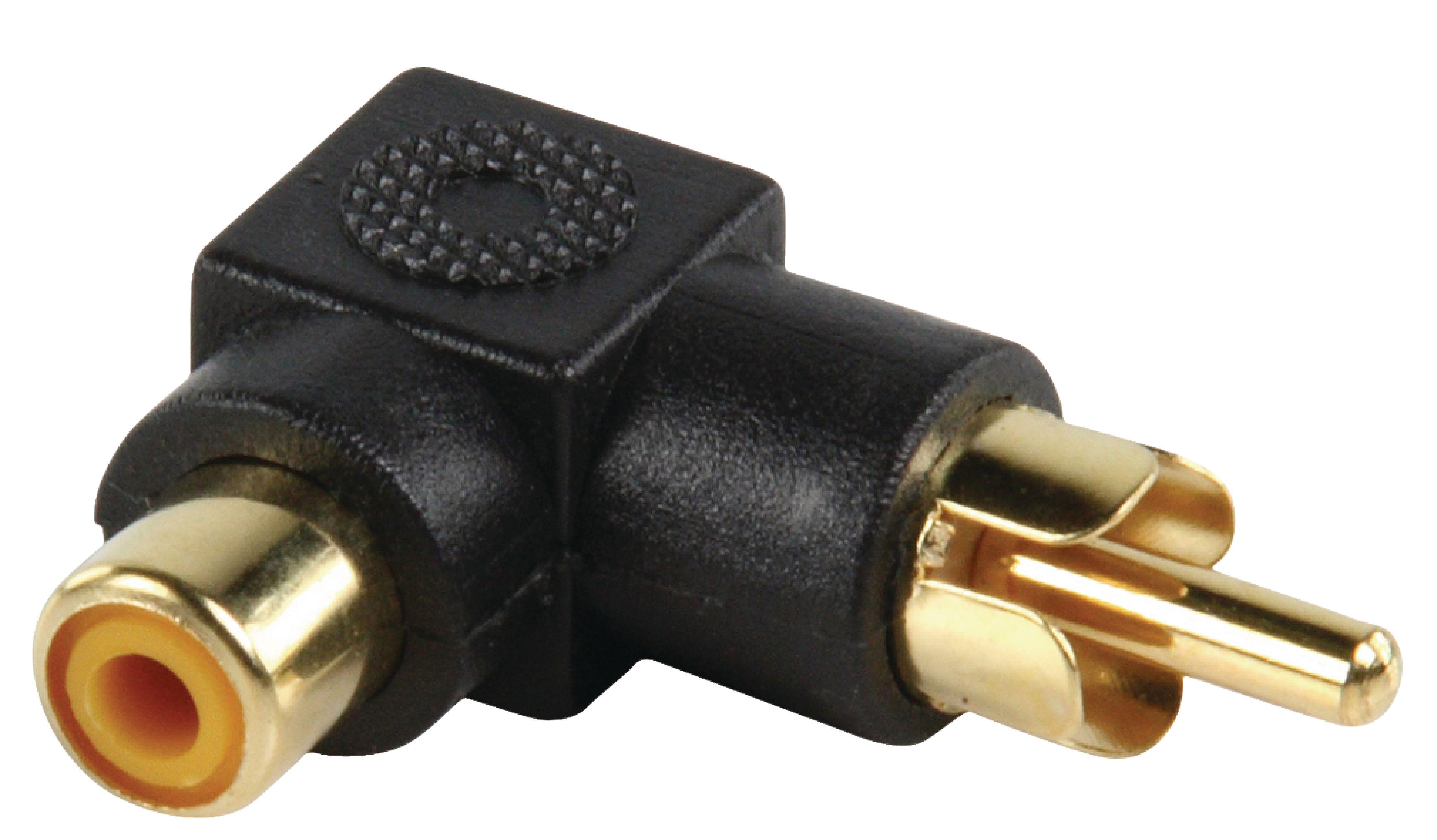 Valueline AC-054 Stereo Audio Adapter Angled 90° RCA Male - RCA Female