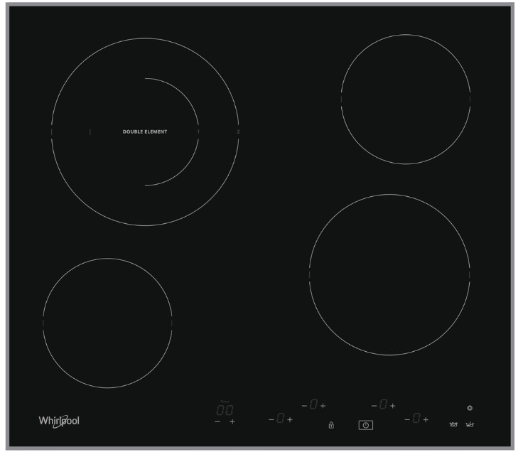 Whirlpool AKT8601IX beépíthető üvegkerámia főzőlap