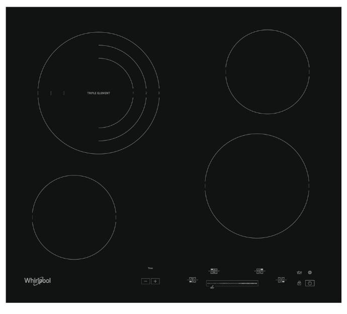 Whirlpool AKT8900BA beépíthető üvegkerámia főzőlap